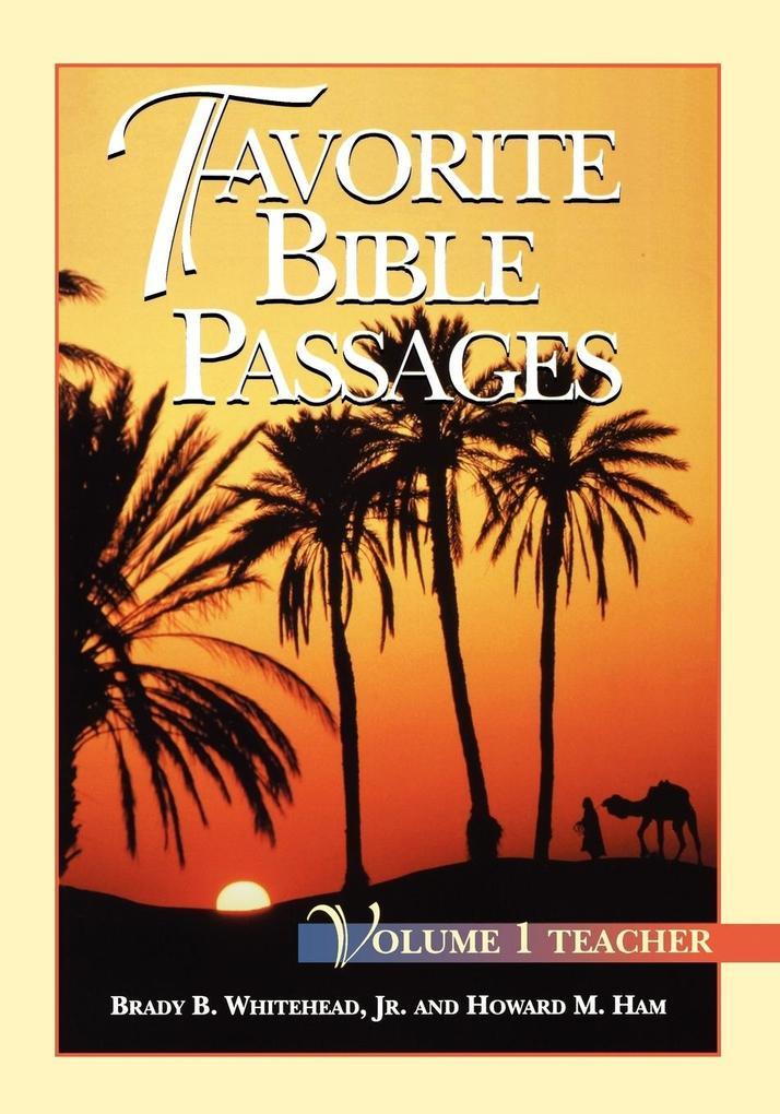 Favorite Bible Passages Volume 1 Leader als Taschenbuch