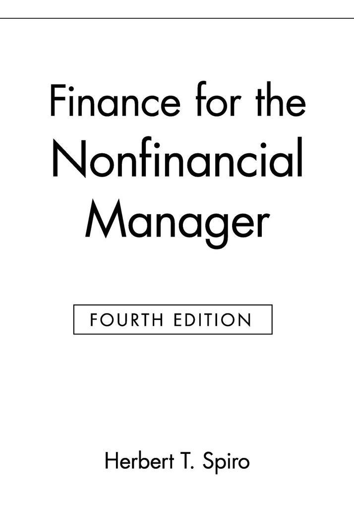 Finance for the Nonfinancial Manager als Taschenbuch