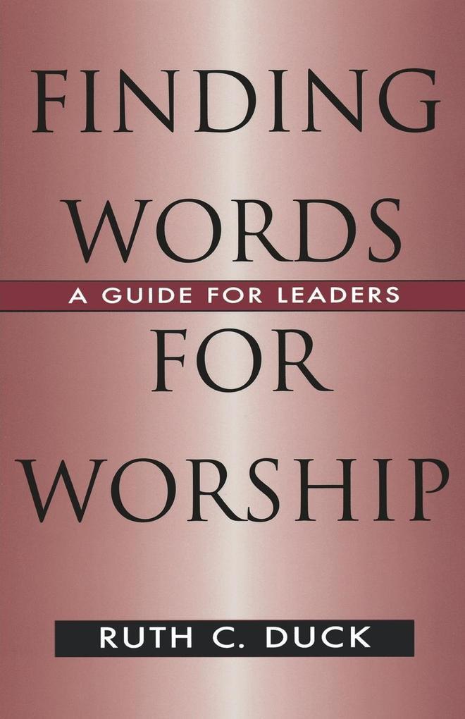 Finding Words for Worship als Taschenbuch