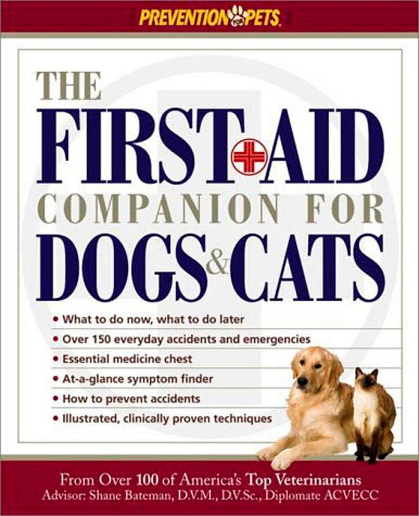 The First Aid Companion for Dogs & Cats als Taschenbuch