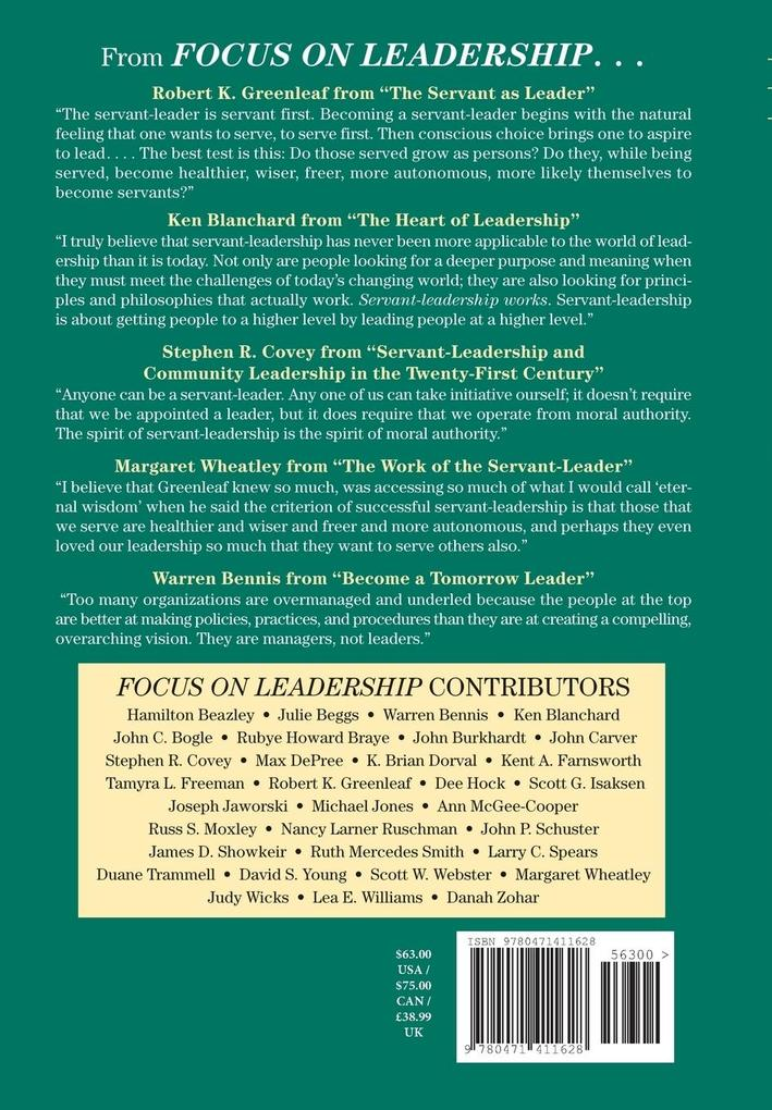 Focus on Leadership als Buch
