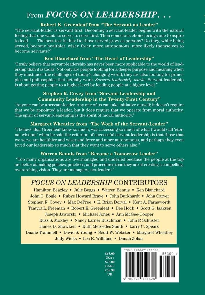 Focus on Leadership: Servant-Leadership for the 21st Century als Buch