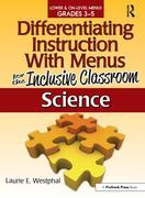 Science: Lower & On-Level Menus Grades 3-5