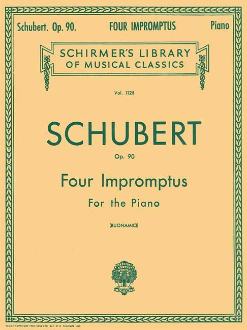 4 Impromptus, Op. 90: Piano Solo als Taschenbuch