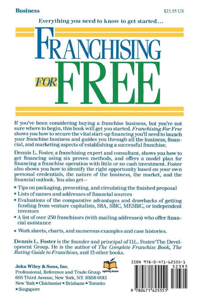 Franchising for Free als Taschenbuch