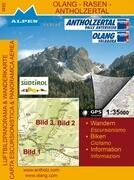 Olang - Rasen - Antholzertal 1 : 35 000 Luftbildpanorama & Wanderkarte