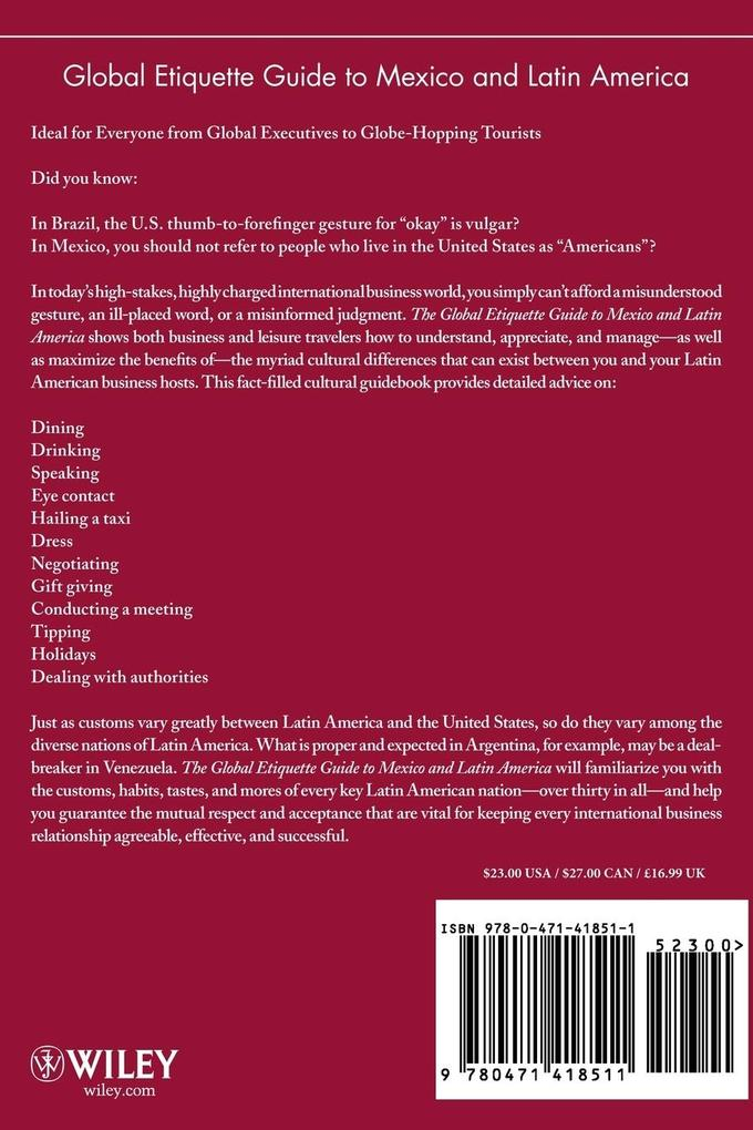 Global Etiquette Guide to Mexico and Latin America als Taschenbuch