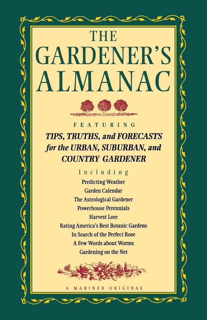 The Gardener's Almanac als Taschenbuch