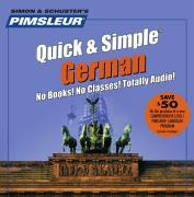 Pimsleur German Quick & Simple Course - Level 1 Lessons 1-8 CD: Learn to Speak and Understand German with Pimsleur Language Programs