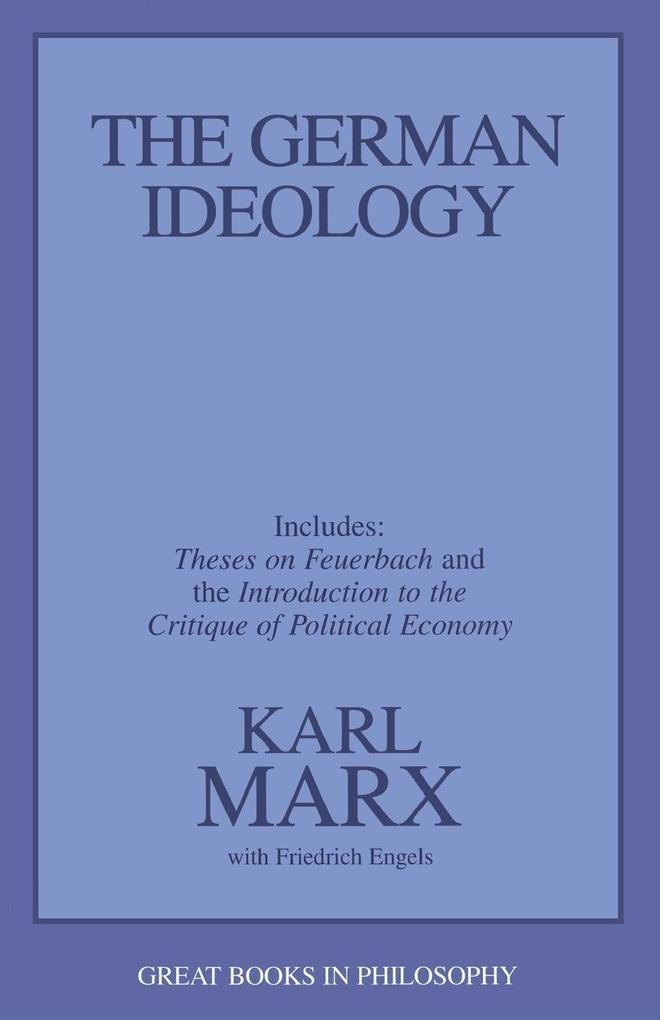 The German Ideology als Taschenbuch