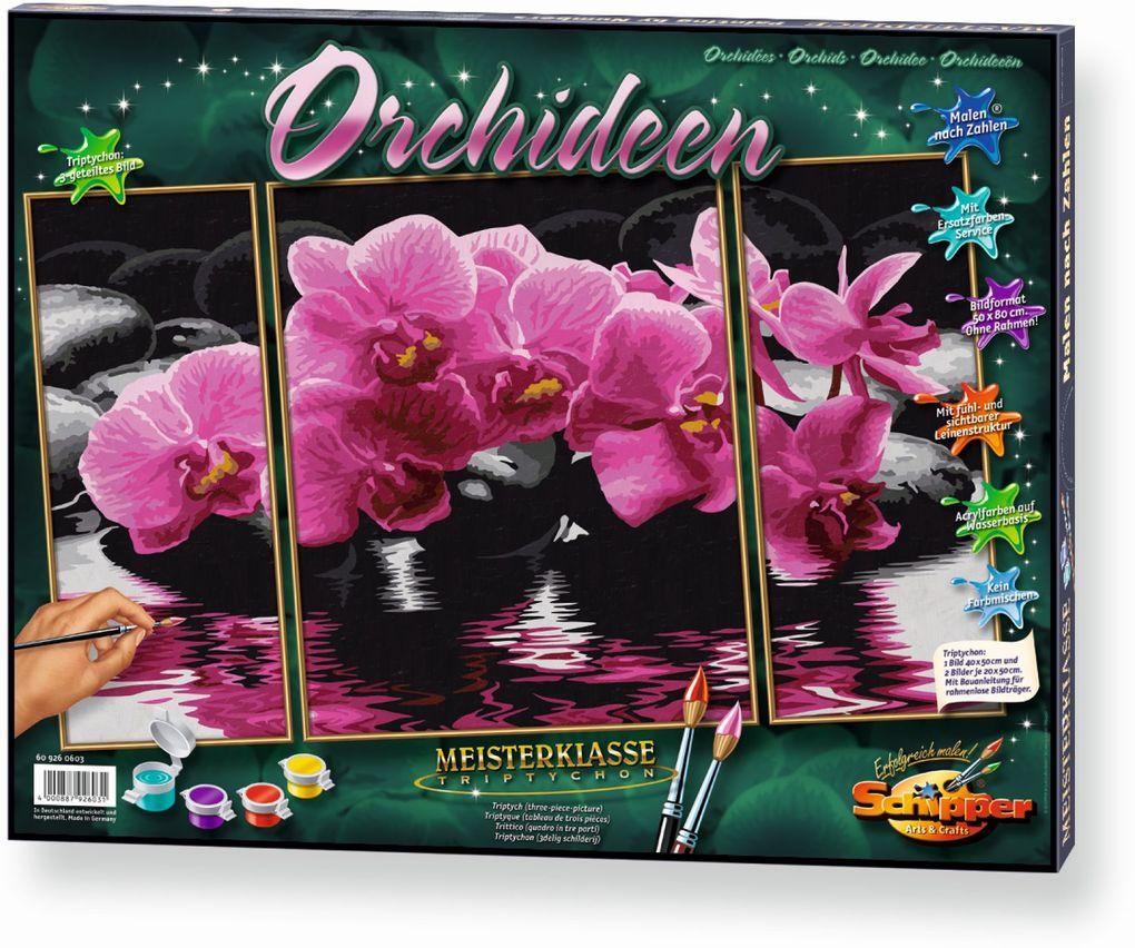 Schipper Malen nach Zahlen - Orchideen (Triptyc...