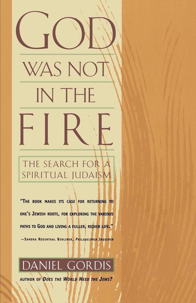 God Was Not in the Fire als Taschenbuch