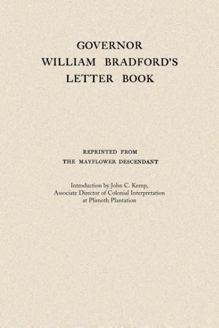 Governor William Bradford's Letter Book als Taschenbuch