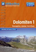 Hikeline Dolomiten 01. 1 : 50 000