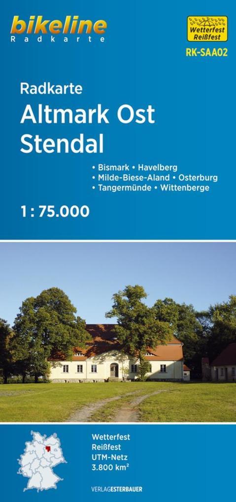 Bikeline Radkarte Deutschland Altmark Ost Stendal 1:75.000 als Blätter und Karten