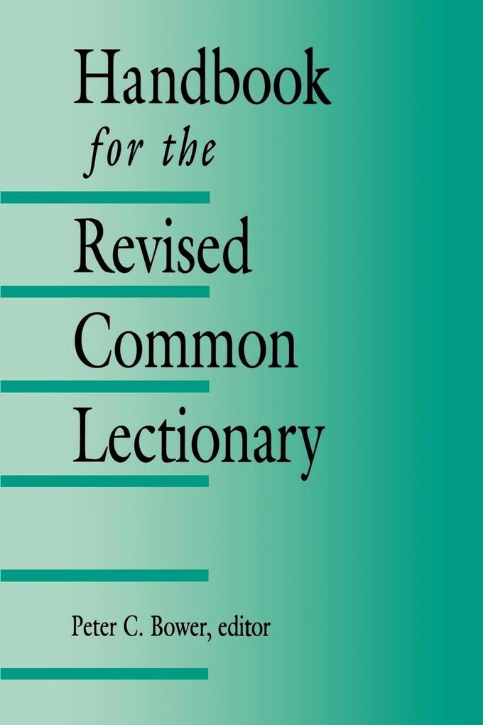 Handbook for the Revised Common Lectionary als Taschenbuch