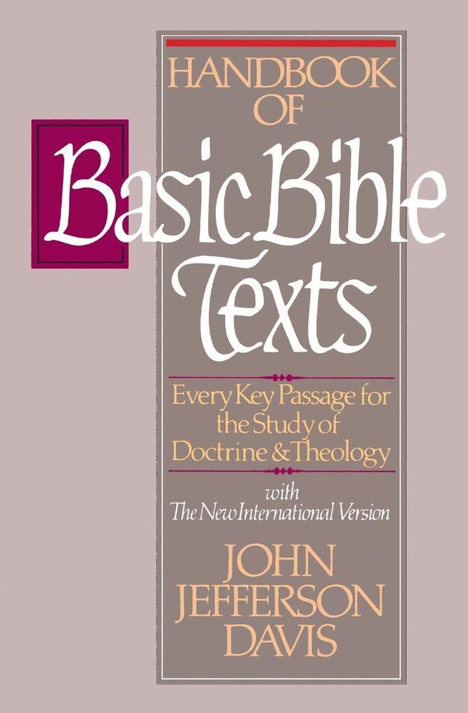 Handbook of Basic Bible Texts als Taschenbuch
