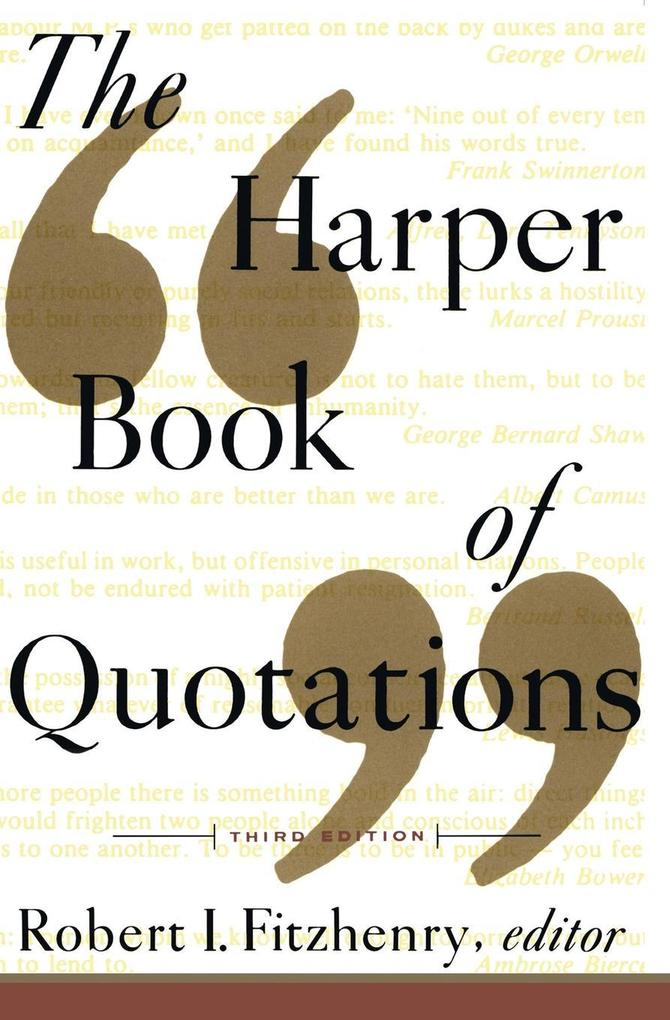 The Harper Book of Quotations Revised Edition als Taschenbuch