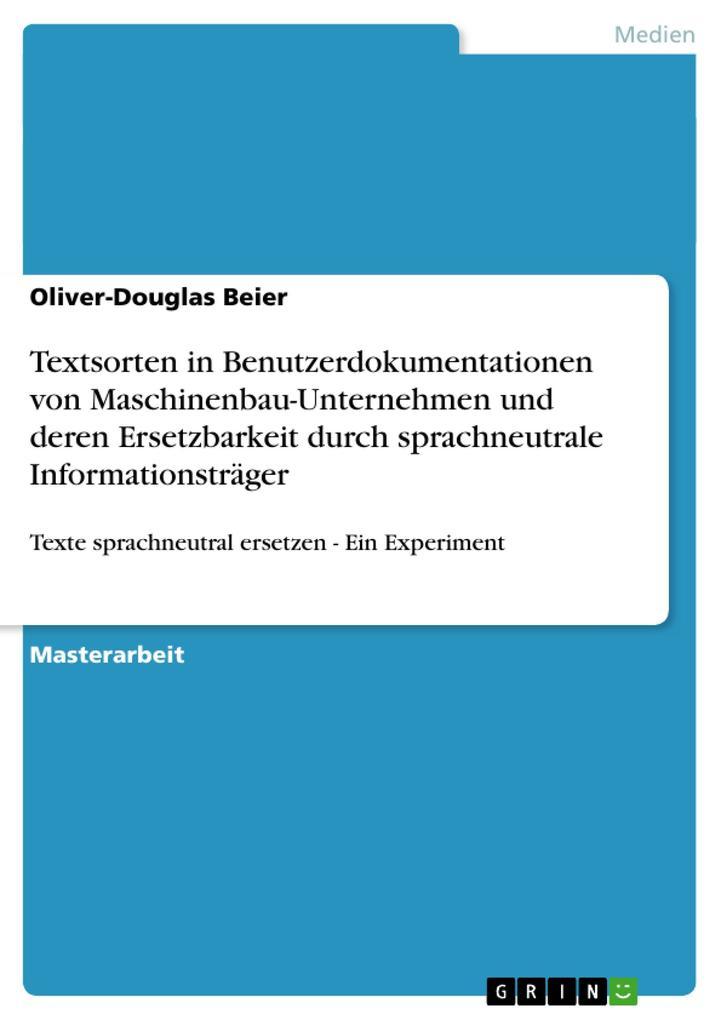 Textsorten in Benutzerdokumentationen von Masch...