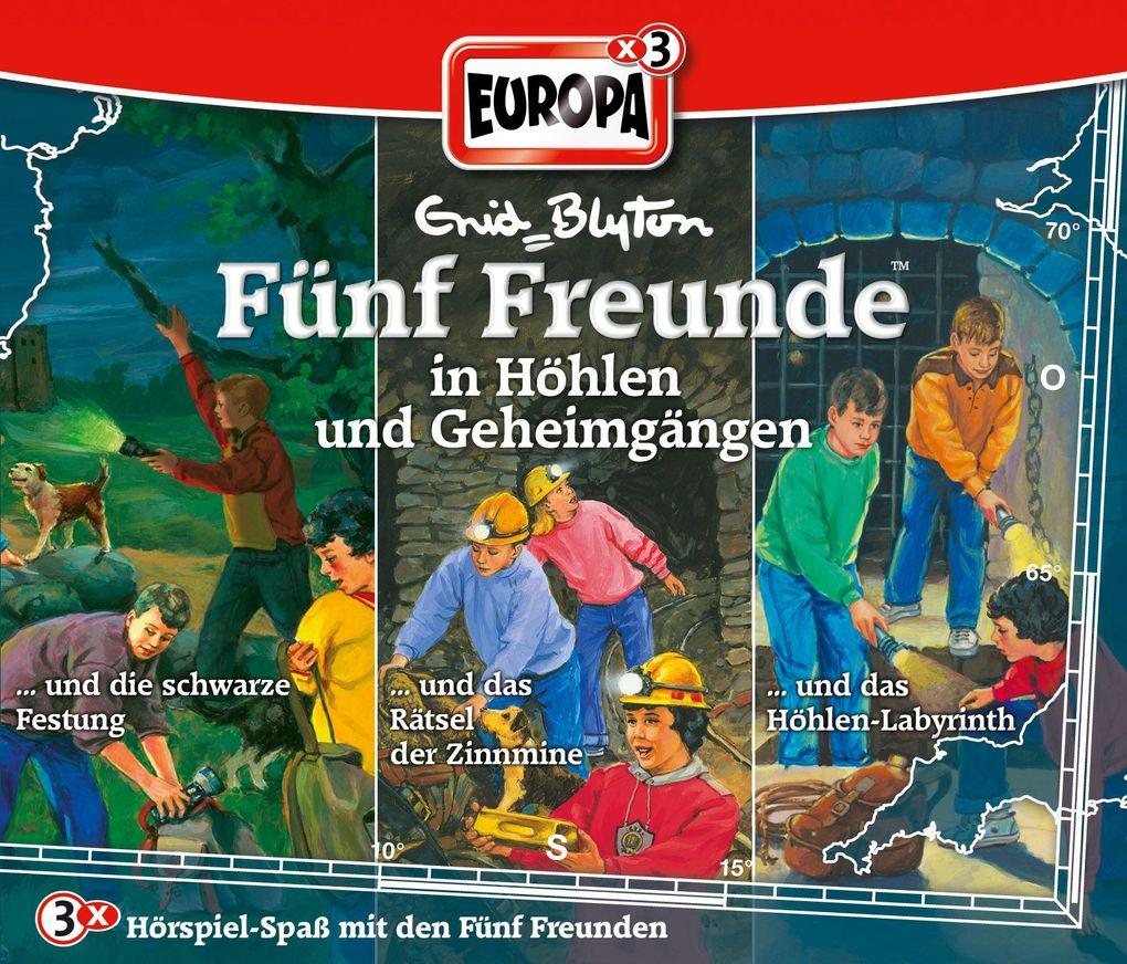 Fünf Freunde Box 16 ... in Höhlen und Geheimgängen als Hörbuch