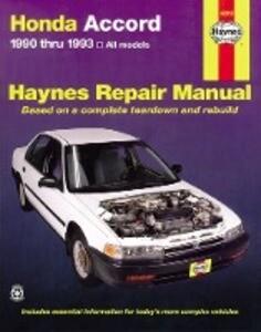 Honda Accord 1990-1993 als Taschenbuch