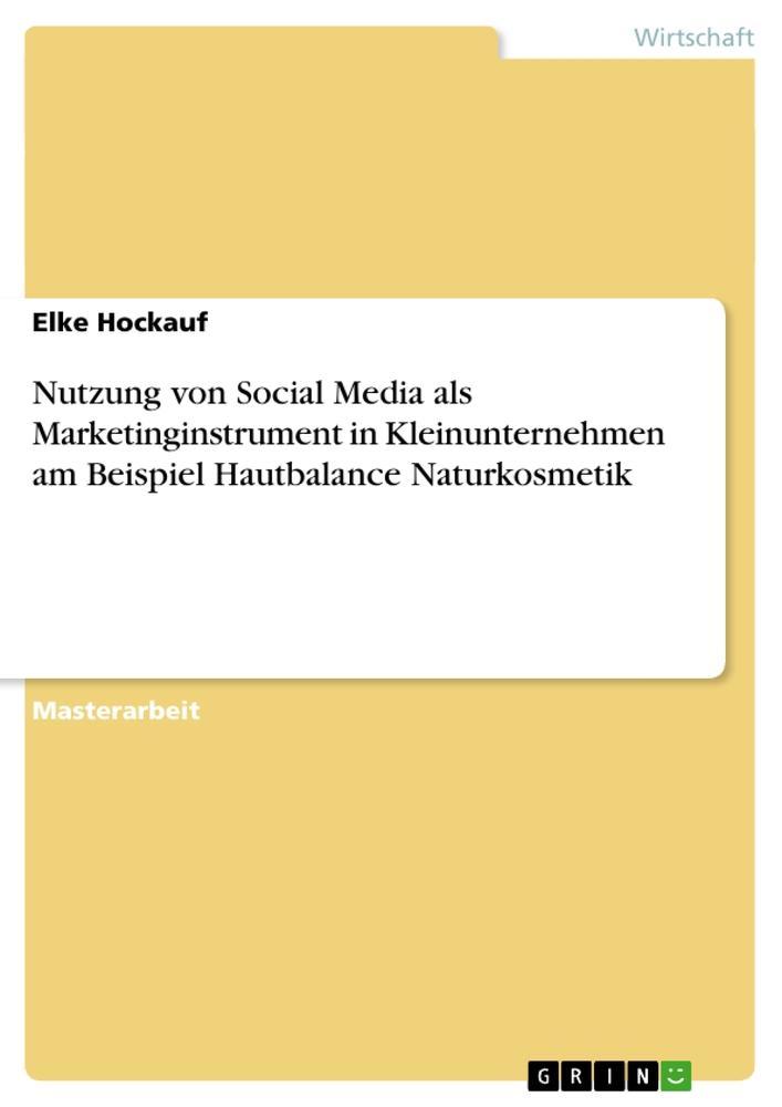 Nutzung von Social Media als Marketinginstrumen...