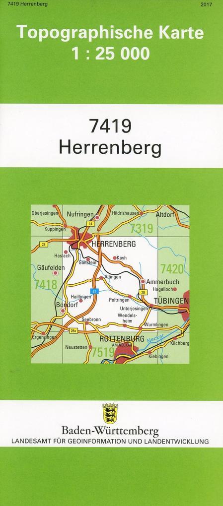 Herrenberg 1 : 25 000 als Buch von