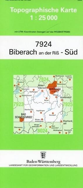 Biberach an der Riß Süd 1 : 25 000 als Buch von