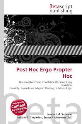 Post Hoc Ergo Propter Hoc als Buch von