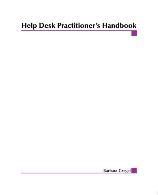 Help Desk Practitioner's Handbook als Taschenbuch