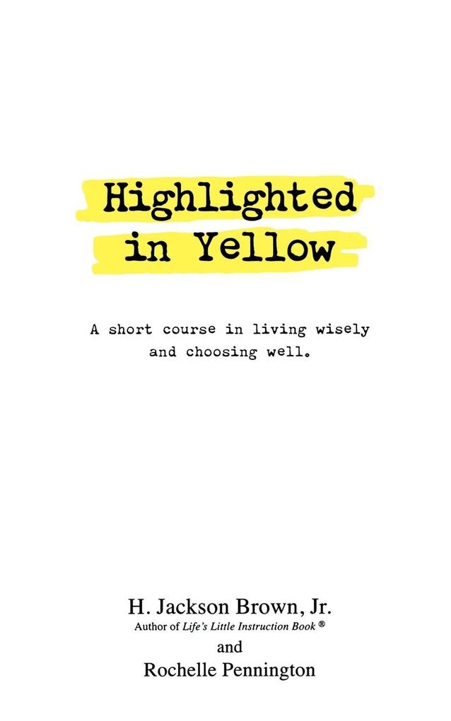 Highlighted in Yellow als Buch