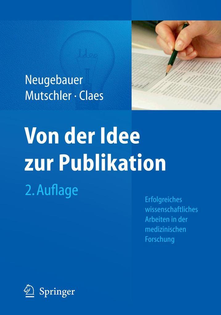 Von der Idee zur Publikation als eBook Download...