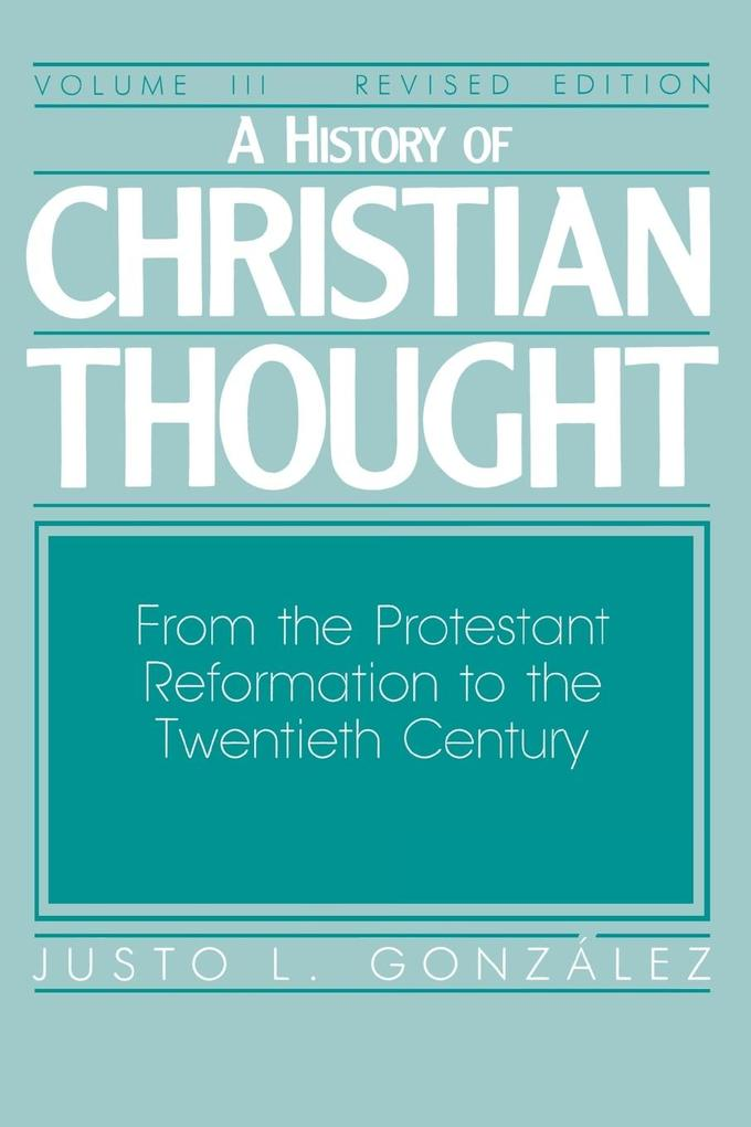 A History of Christian Thought Volume 3 als Taschenbuch