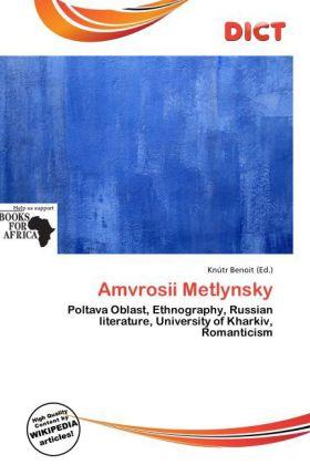 Amvrosii Metlynsky als Taschenbuch von