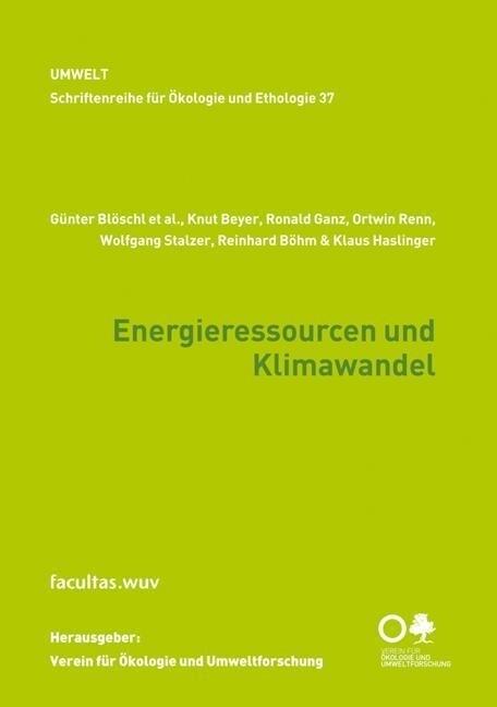 Energieressourcen und Klimawandel als Buch von ...