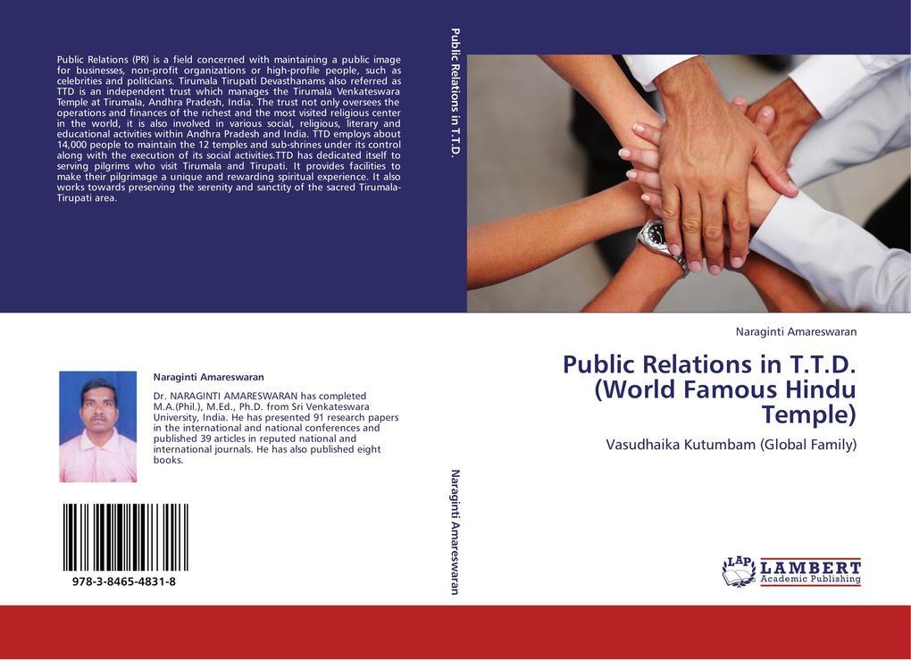 Public Relations in T.T.D. (World Famous Hindu ...