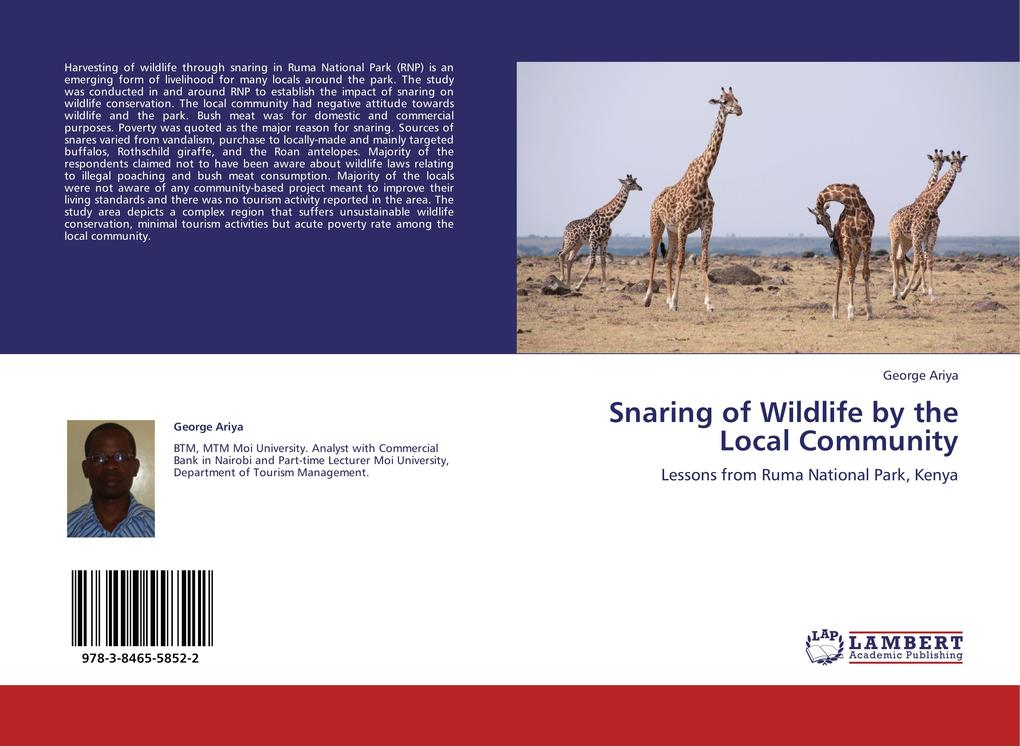 Snaring of Wildlife by the Local Community als ...