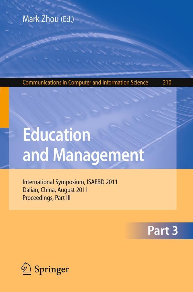 Education and Management als eBook Download von