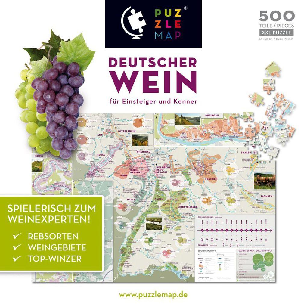 PuzzleMap - Deutscher Wein