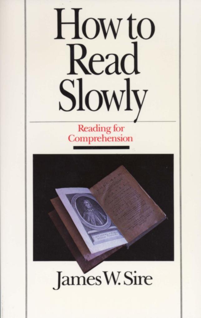 How to Read Slowly als Taschenbuch