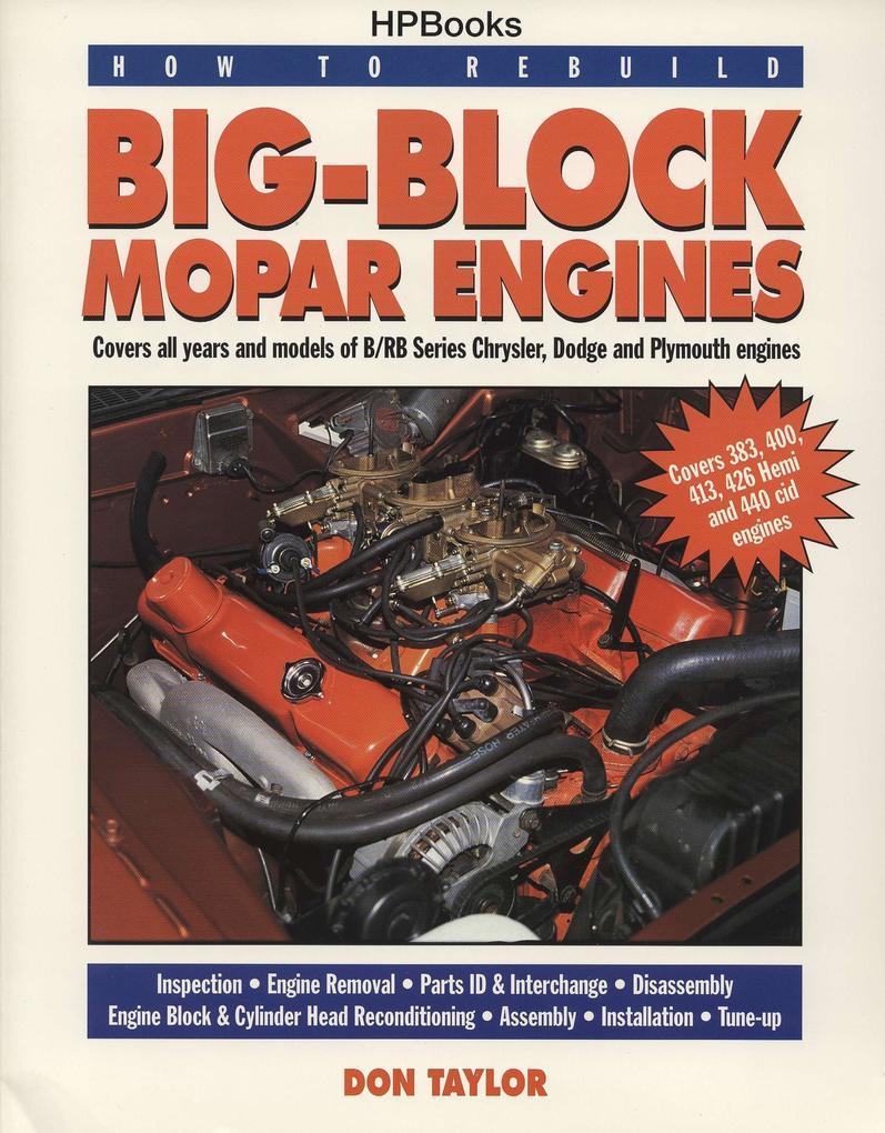 How To Rebuild Big-block Mopar Engines als Taschenbuch