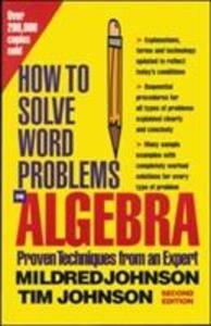 How to Solve Word Problems in Algebra als Buch (kartoniert)