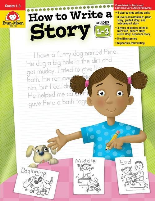 How to Write a Story, Grades 1-3 als Taschenbuch