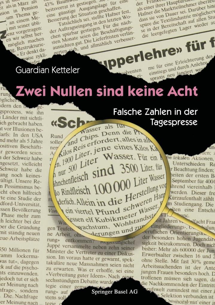 Zwei Nullen sind keine Acht als Buch von Guardi...