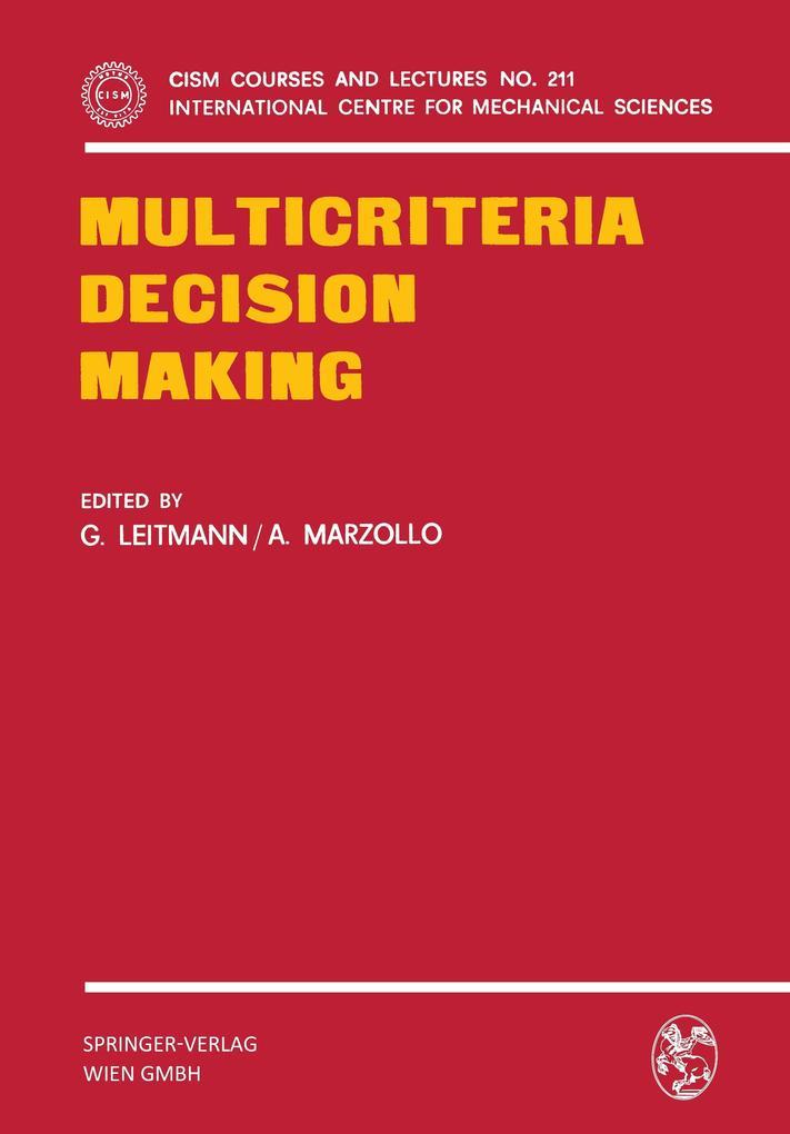 Multicriteria Decision Making als Buch von