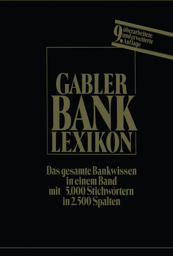 Bank-Lexikon als Buch von Josef Löffelholz