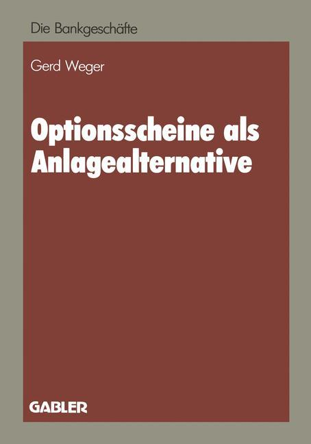 Optionsscheine als Anlagealternative als Buch v...