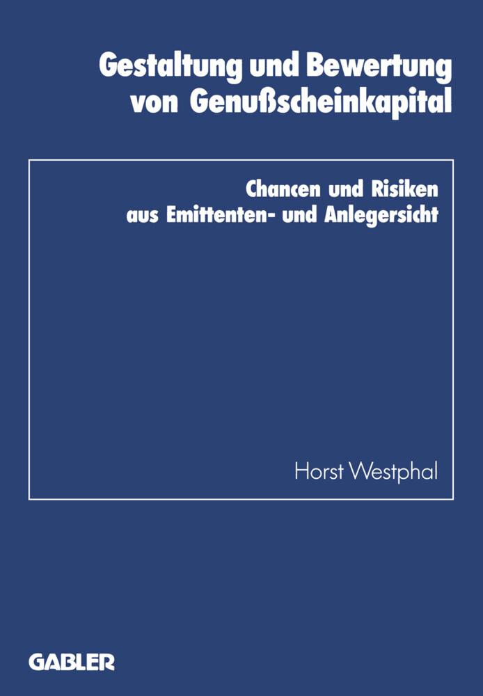 Gestaltung und Bewertung von Genußscheinkapital...