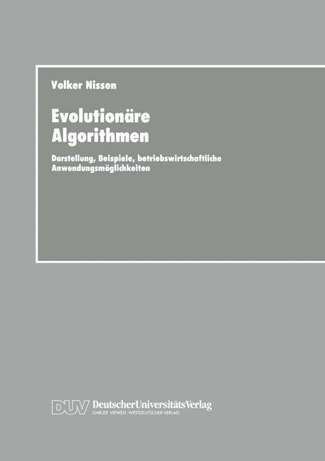 Evolutionäre Algorithmen als Buch von Volker Ni...