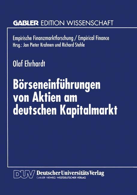 Börseneinführungen von Aktien am deutschen Kapi...